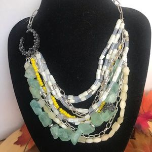 Kenneth Cole Cresent Moon Multi Layer Necklace